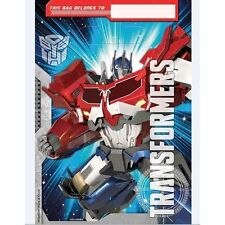 Transformers Birthday Party Supplies Loot Lolly Treat Bags Pack of 8