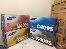 Lot of 4 x New GENUINE Color Samsung CLT-C409S M409S Y409S K409 Toner
