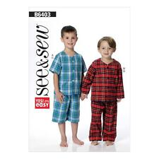 BUTTERICK SEWING PATTERN SEE & SEW BOYS' TOP SHORTS PANTS SIZE 2 - 8 B6403