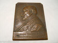 1937 Médaille Plaque Bronze Médecine Professeur Vincent Bué