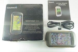 Garmin Montana 600 GPS w/ Upgraded TOPO U.S. 24K Maps Choose Two US Regions!