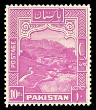 Pakistan 1951 KGVI 10r magenta (Perf 13) superb MNH. SG 41b. Sc 41.