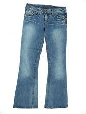 Silver Womens Jeans Size 28 Tuesday 20 Boot Cut Indigo Dye Process Cotton
