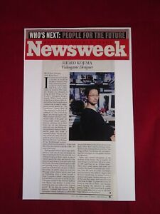 """Newsweek HIDEO KOJIMA """"Who's Next - People for the Future"""" Metal Gear Solid 2001"""