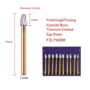 10pcs/kit High Speed Dental Tungsten Steel Carbide Crown  Cutting FG Burs