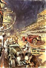1932 Le Mans 24 Hour Alfa Romeo Auto Automobile Car Race Art  Poster Print