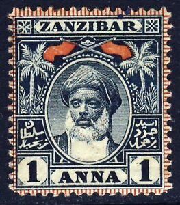 ZANZIBAR 1899 1 Anna Indigo Sultan Hamoud-bin-Mohommed SG 189 MINT