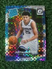 Justin Jackson Optic RR Checkerboard Holo Prizm SP RARE! ✔ out all of tbe PICS👀