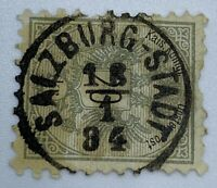 1884 SALZBURG-STADT BOLD SON CANCEL ON AUSTRIA STAMP