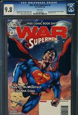 CGC 9.8 War Of The Supermen #0 FCBD 2010 Superman Action Comics