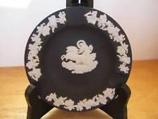 """WEDGWOOD Jasperware Black Ashtray Round Chariot 4 1/4"""""""