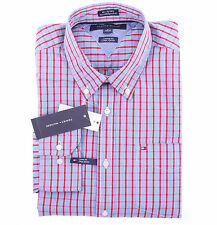 Tommy Hilfiger Men Long Sleeve Custom Fit Button Down Plaid Shirt - $0 Ship