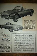 ARTICOLO  MORETTI SPIDER 2500 -  1962