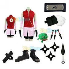Brand New Naruto Shippuden Haruno Sakura Cosplay Costume props halloween set