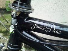 Personalizzato Nome BMX Pedal Bicicletta Flessioni Bike Adesivi Decalcomanie X2