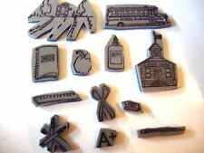 """SCHOOL THEME'' - CLING FOAM RUBBER STAMP  WITH PLASTIC CASE 12 PIECE SET"
