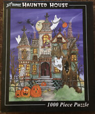 Vermont Christmas Company Haunted House 1000 Piece Puzzle Used++ Complete