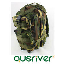 Outdoor Hinking Travel 3P Tactical Backpack Military Bag Rucksack Camouflage