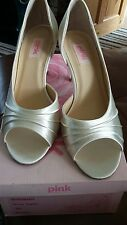 ivory satin wedding shoes size 6