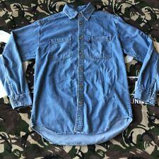 New listing Vintage Levi's Jeans Botton Up Denim Shirt Classic Dress Work Metal Blue Washed