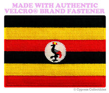 UGANDA FLAG PATCH AFRICAN EMBROIDERED AFRICA SOUVENIR w/ VELCRO® Brand Fastener