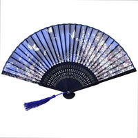 Spanish Chinese Style Dance Party Wedding Lace Silk Folding Hand Held Flower Fan