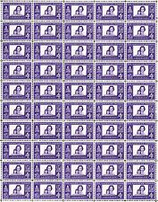 1960 - The American Woman - Fault-Free Mint Nh Sheet of 50 U.S. Postage Stamps