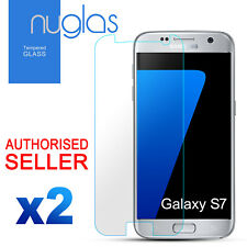 2x GENUINE NUGLAS For Samsung Galaxy S7 Premium Tempered Glass Screen Protector