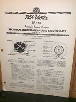 Rca Victor RP-158 Turntable Service  Manual, Technical Information.