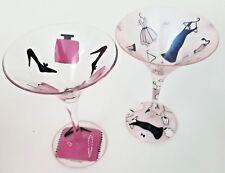 Lolita Glamour-Tini Shopaholic Martini Glasses Pink Dress Shoes Purses Recipes