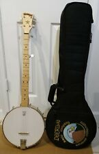 Deering Goodtime Banjo 5-String Open Back With Embroidered Padded Case NICE!