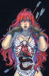 🚨🔥😱 DIENAMITE LIVES #4 FRANY 616 BONE Virgin Variant A Red Sonja LTD 500 COA