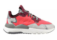 Adidas Nite Jogger Boost Low Womens Running Shoes Shock Red Gray EE5912 Size 7