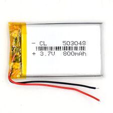 2PCS 3.7V 800 mAh Lithium Rechargeable Polymer Li-ion LI-PO 053048 for GPS PSP