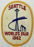 1962 Seattle World's Fair Embroidered Souvenir Patch Space Needle Monorail
