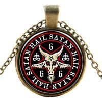 Gothic Church of Satan Inverted Symbol Necklace Pendant Satanism Goat Devil