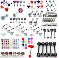 Tongue Bars Crystal Heart Star Tongue Bar Body Piercing Jewellery Ferido Epoxy