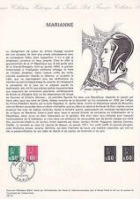 Document Philatélique Timbre 1er Jour : 05/10/ 1974 - Marianne