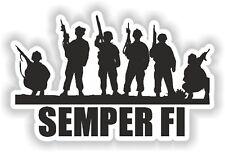 1x Semper Fi USA Marines Sticker for Bumper Locker Tool Box Door Truck #04