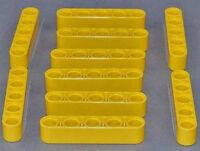 LEGO Technik - 10 x Liftarm dick 1x5 gelb / Yellow Liftarm Thick / 32316 NEUWARE