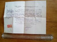 extrait registre état civil, angers - 1953 - acte de naissance