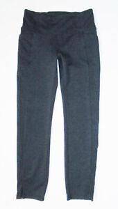 ATHLETA Fitness Tights MERCER Herringbone Tweed NAVY BLUE Yoga Pants SMALL