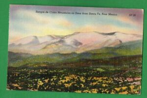 MONTAINS AS SEEN FROM SANTA FE, NEW MEXICO VINTAGE PC USED 965