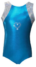 New Gymnastic/Dance Leotard - Turquoise Heart
