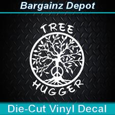 Vinyl Decal * TREE HUGGER * Tree of Life Environment Zen Car Laptop Sticker