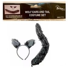 NEW! Wolf Ears and Tail Set Gray Wolf Costume Accessories Big Bad Wolf