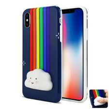 For iPhone X 3D Case TPU Protective Cover Cute Squishy Soft Silicone Cloud