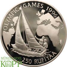 AA3790) Malediven 250 Rufiyaa 1993 Olympiade Segeln