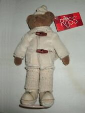 "Russ Berrie® #4812 Caldwell - 7"" Handmade Plush Old World Teddies With Stand NEW"