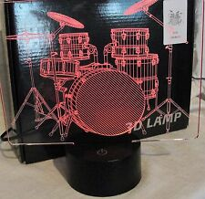 LED 3D DRUM SET LAMP LIGHT MUSIC LAMP COLOR CHANGING